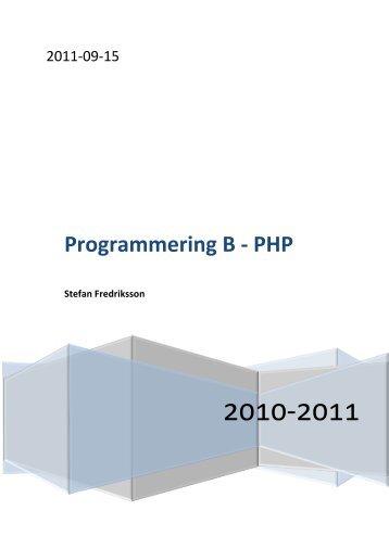 Kompendie - Programmering B - PHP