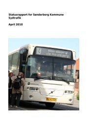 Statusrapport for Sønderborg Kommune Sydtrafik April 2010