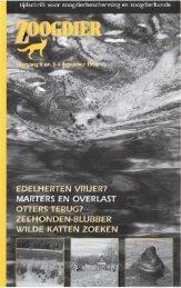 ZOOGDIER 1998 9 (3-4) - Nieuw in de Zoogdierwinkel