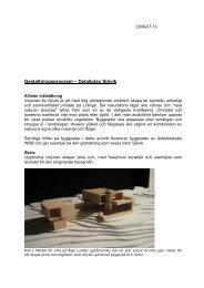 Gestaltningsprogram – Detaljplan Sjövik