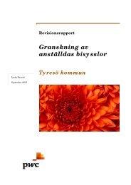 Granskning av anställdas bisysslor 2012.pdf - Tyresö kommun