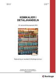 Rapport kemikalier i detaljhandeln.pdf - Borlänge kommun