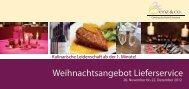 Weihnachtsangebot vom 26.november bis 22 ... - Benz Catering