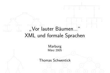 XML und formale Sprachen - Logik in der Informatik