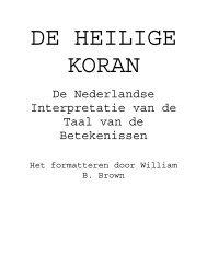 De Nederlandse Interpretatie van de Taal van de ... - Masjid Hamza