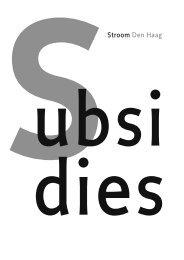 Volledige Subsidiegids 2013 - Stroom Den Haag
