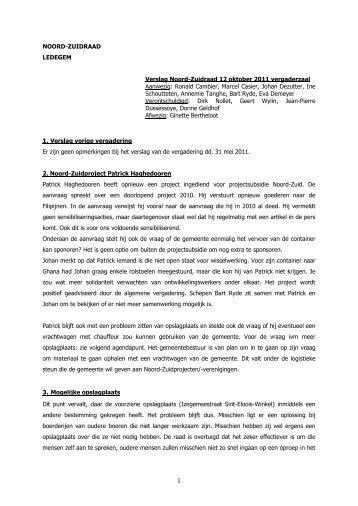 Verslag 12 oktober 2011 - Ledegem