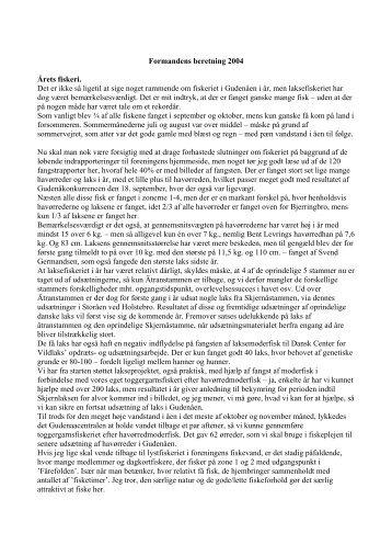 Formandens beretning 2004