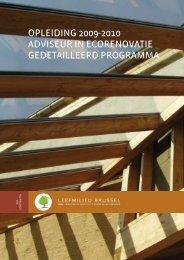 opleiding 2009-2010 adviseur in ecorenovatie gedetailleerd ... - IBGE