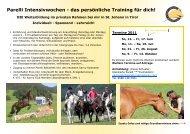 Parelli Intensivwochen - das persönliche Training ... - Ursula Schuster