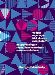 En uppföljning av fn:s Kvinno kommittés rekommendationer Vad gör ...