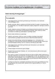 Videre læsning Overbygningen - Skoleporten Gl. Lindholm Skole