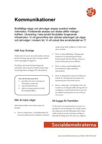 Kommunikationer 2.0.pdf - Socialdemokraterna