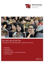Vor dem Abi an die Uni - Referat IE - TU Berlin