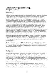 Analyser av pasientforløp (52KB) - Helse Nord