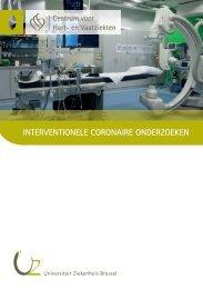 Interventionele coronaire onderzoeken - UZ Brussel: Patientinfo