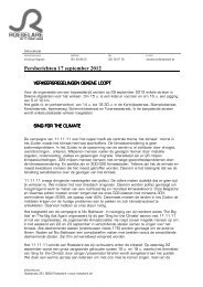 Persberichten 17 september 2012