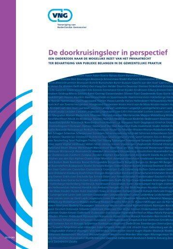 De doorkruisingsleer in perspectief - Vereniging van Nederlandse ...