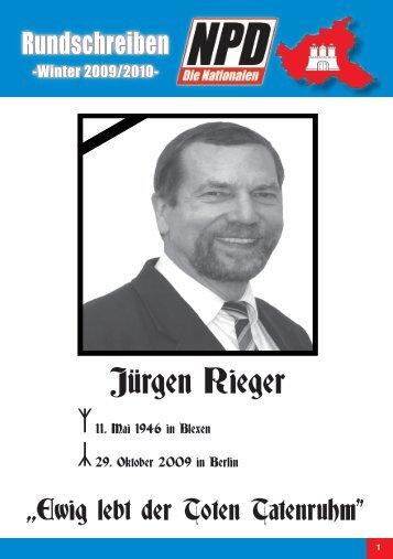 Jürgen Rieger - NPD Landesverband Hamburg