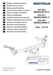 Istruzioni di montaggio - Patrick Remorques