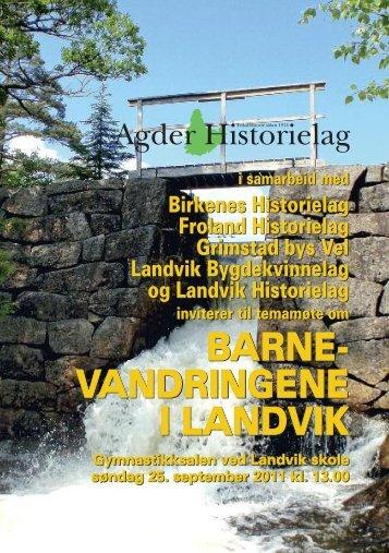 Les meir - Agder Historielag
