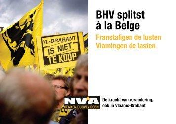 BHV splitst à la Belge - N-VA
