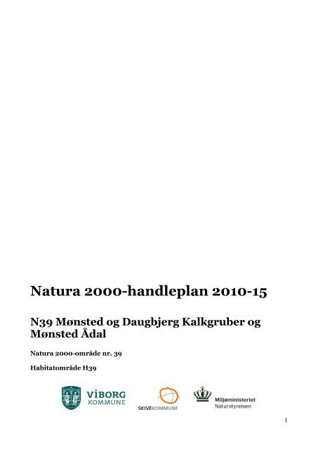 Natura 2000-handleplan 2010-15 N39 Mønsted og ... - Skive.dk