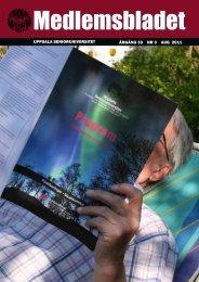 UPPSALA SENIORUNIVERSITET ÅRGÅNG 33 NR 3 AUG 2011