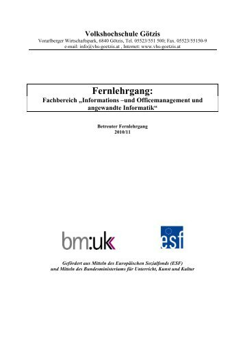 Infoblatt FB Fernlehrganginformatik W 2010-11