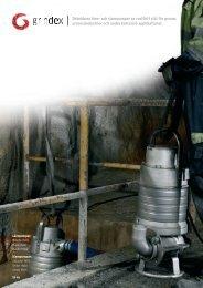 Dränkbara läns- och slampumpar av rostfritt stål för gruvor ... - Grindex