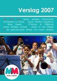 Jaarverslag Music Matters 2007 (PDF)