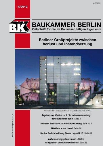 BK-Heft 2012-04 - Baukammer Berlin