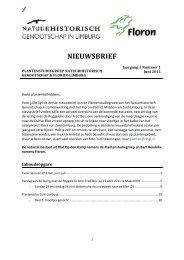 PSG nieuwsbrief juni 2011 - Natuurhistorisch Genootschap in Limburg