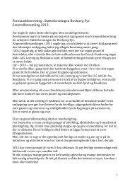 Formandsberetning 2013 - Bovbjerg Fyr