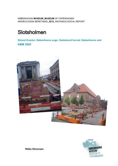 Udgravningsberetning Slotsholmen (KBM3925) - uden bilag