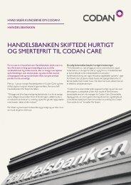 Handelsbanken skiftede Hurtigt og smertefrit til Codan Care