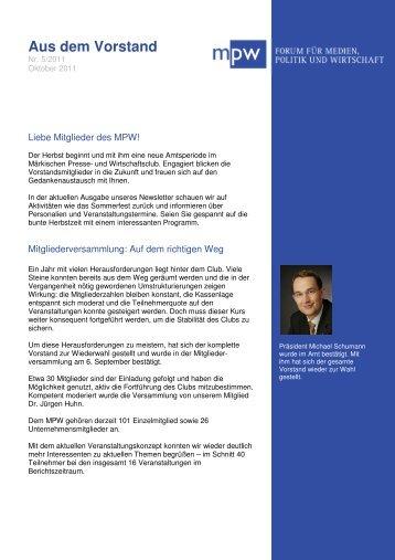 Aus dem Vorstand - Märkischer Presse