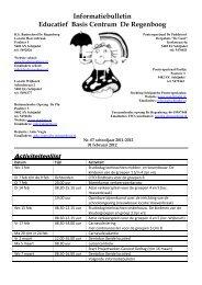 Informatiebulletin Educatief Basis Centrum De Regenboog