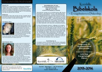 Här kan du ladda ner en pdf-fil av Bibelskolefoldern 2013 ... - Kornhill