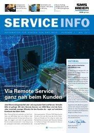 Via Remote Service ganz nah beim Kunden - SMS Meer GmbH