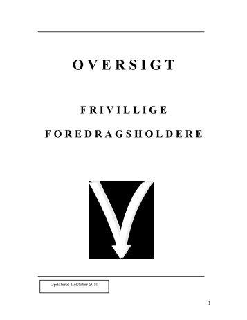 Se listen over foredragsholdere her - Dansk Røde Kors