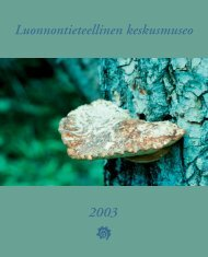 Koko vuosikertomus - Luonnontieteellinen keskusmuseo