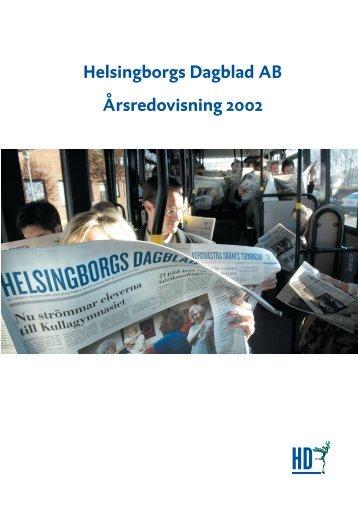 Helsingborgs Dagblad AB Årsredovisning 2002