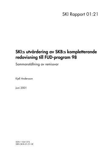 SKI:s sammanställning av remissvar över SKB:s kompletterande ...