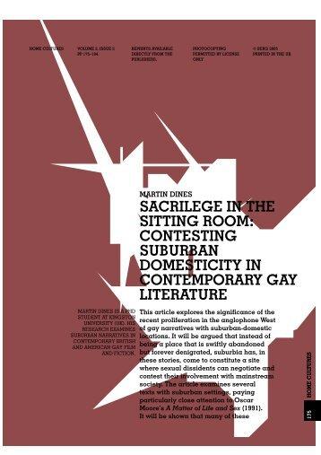 sacrilege in the sitting room: contesting suburban ... - Fritz Haeg