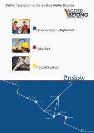 prisliste 2012 - Agder Betong AS