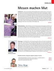 Messen machen Mut - beim SN-Fachpresse Verlag