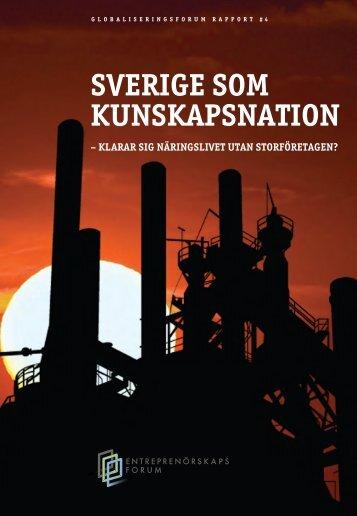 Sverige som kunskapsnation – klarar sig näringslivet utan ...