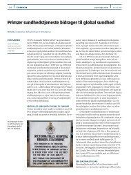 Primær sundhedstjeneste bidrager til global sundhed - Ugeskrift for ...