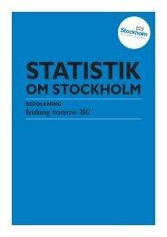 Befolkning kvartersvis 2012 - Statistik om Stockholm
